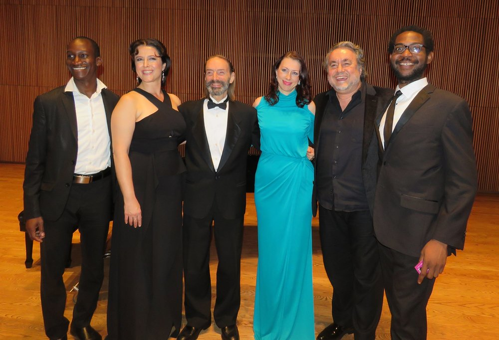 From left: Kofi Hayford, Bass; Julianna Milin, Soprano; Me; Viktoryia Koreneva, Mezzo-Soprano; Valentin Peytchinov, Bass; Lindell Carter, Tenor