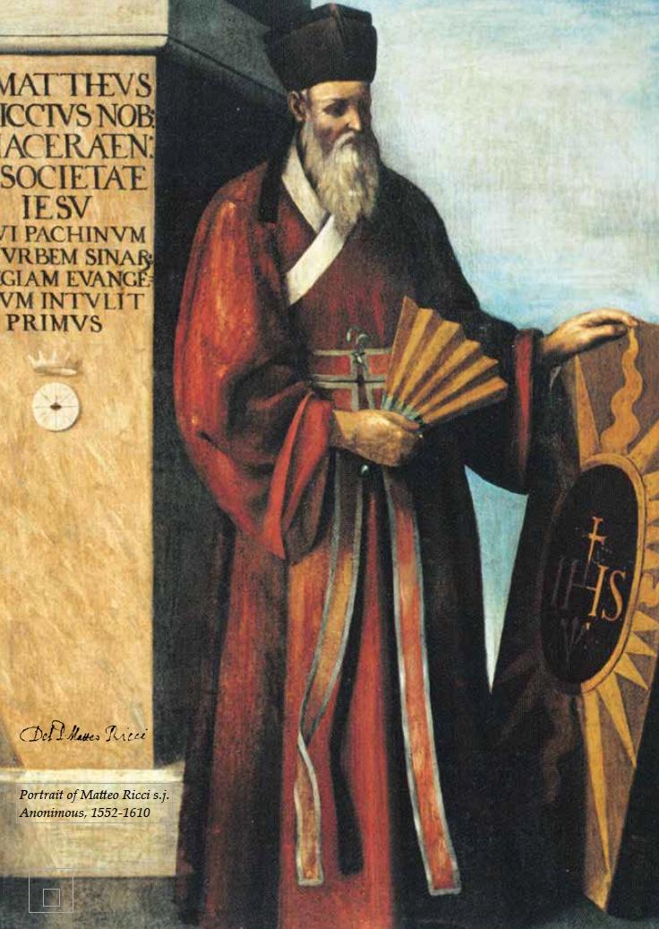 Portrait of Matteo Ricci s.j. Anonimous, 1552 - 1610