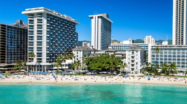 The Moana Surfrider at Waikiki Beach