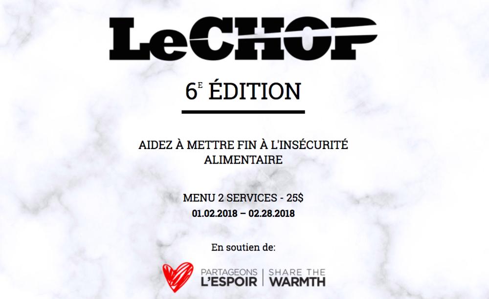 Le Chop 2018
