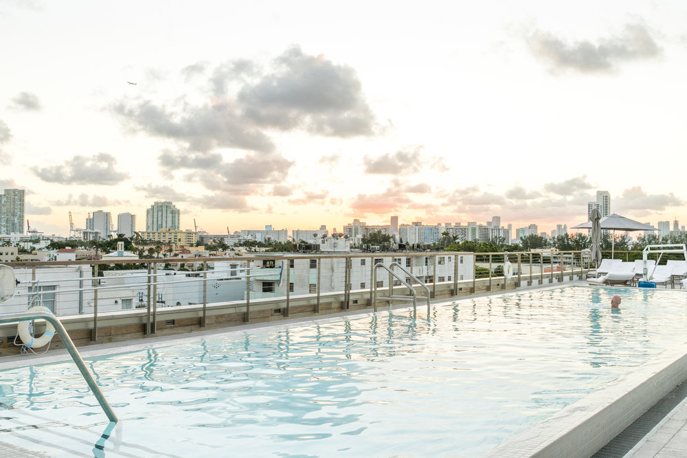 The new rooftop pool in the Art Deco wing