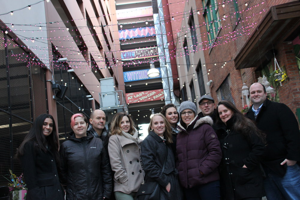 Part of our team freezing our booties off @TheBelt in Detroit. Happy New Year!