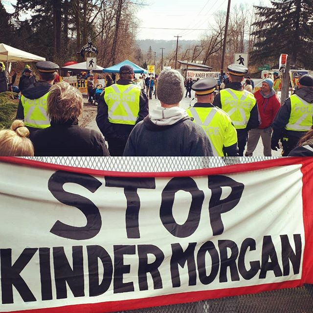"""People gonna to rise like the water, gonna shut this pipeline down. Can hear the voices of my great granddaughters, saying stop Kinder Morgan now."" #stopkindermorgan #warriorup  #waterislife #protecttheinlet"