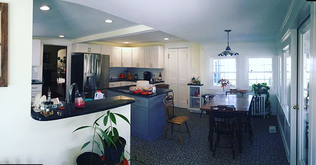 """I went by this  job to discuss a few punch list items the other day.  The house has been around for a long time, the old kitchen was full of memories for a big family. Lots and lots of kids and grandkids have come though this kitchen! Knowing they are a """"kitchen family"""", We were sure to create as many """"places to be"""" as we could. It was great to hear how well the kitchen held up Thanksgiving day! This is why I love what I do."""