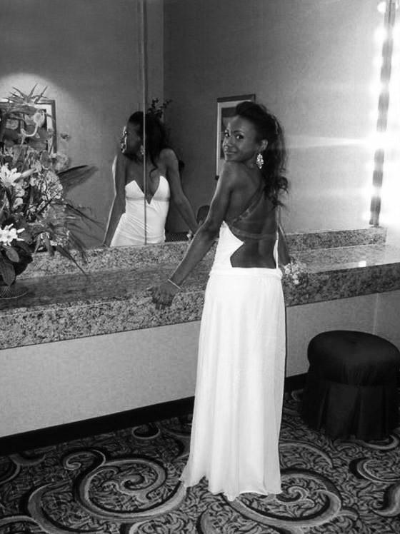 The prom dress.