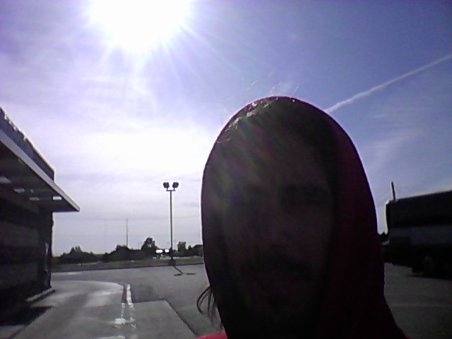 Crossed state line into Colorado, 2014. Nervous breakdown shot, hiding my face, stealing strawberry milk(s). The sun!!!!