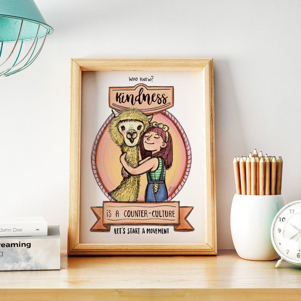 Llama Love framed cropped .jpg