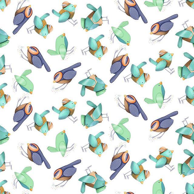 A pattern made from my new bird characters! . . . . . #illustration #illustrator #picturebookillustration #illustragram #sketch #sketchbook #pattern #patterndesign #surfacepatterndesigner #surfacepatterncommunity #bookstagram #kidlitart #childrensillustration #picturebookillustration #animalart #animalartwork #birds #cutebirds #birdart #boynurserydecor #nurserydecor #characterdesign #design #kcartist #kansascity #bethsnider #bethsniderart #procreate #procreateartist #applepencilart #apple