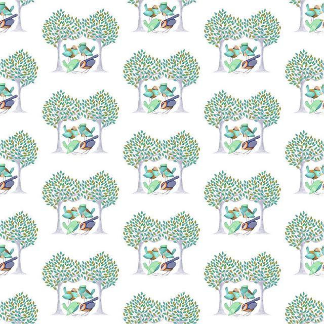 More pattern options with my little birds! . . . . . #illustrations #picturebookillustration #surfacepatterndesign #patterndesign #patternmaking #pattern #animalart #natureart #nurserydecor #illustragram #freelanceillustration #sketch #sketcbook #sketchbooktour #painting #procreate #applepencil #bethsniderart #bethsnider #kcartist #kansascity