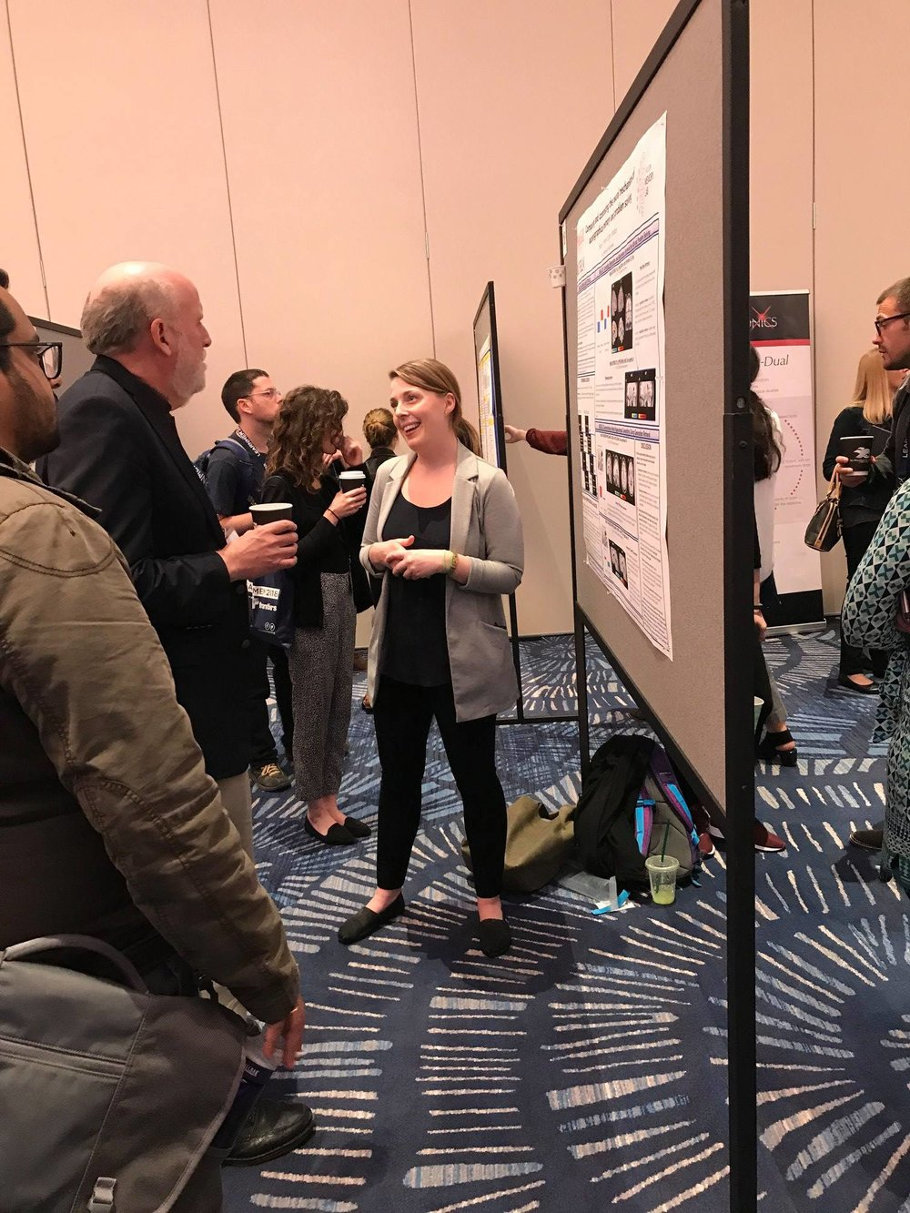 PhD candidate Sarah Peters's poster presentation at the 2018 International Conference on Learning and Memory in California.
