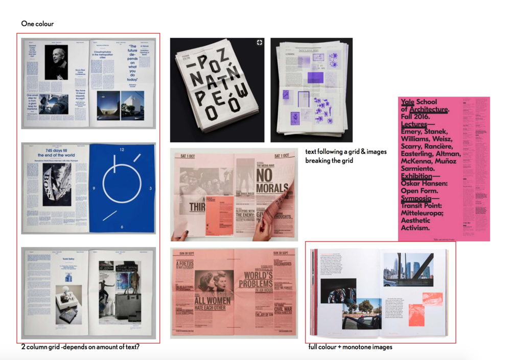 Some slides of the 'initial ideas' presentation I did for Wolf&Player on my first day.