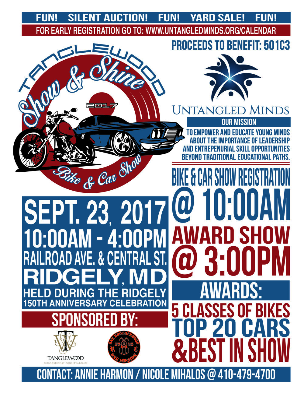 Tanglewood Show Shine Bike And Car Show Untangled Minds - Ridgely car show