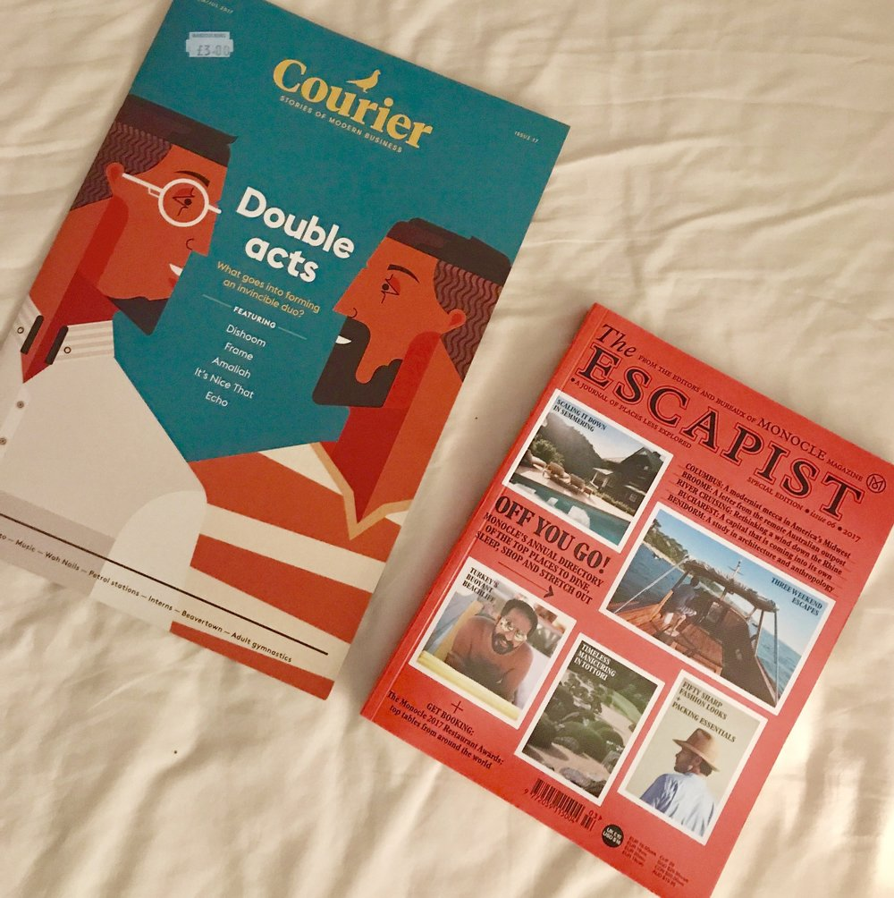 COURIER AND THE ESCAPIST; MAGS OF THE MONTH