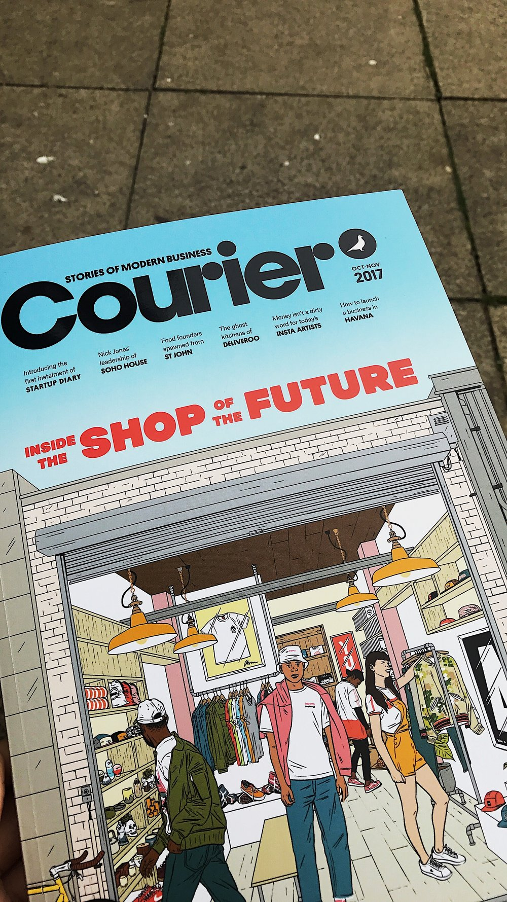 COURIER MAGAZINE    One of my favourite magazine transitioned from a free offering to a paid-for offering. I was a bit sceptical as to whether the content would be better and therefore justifying the £5 price tag, but I was pleasantly surprised that it does just this.  I picked it up at the best newsagents, only a short walk from my office,  Charlotte Street News .