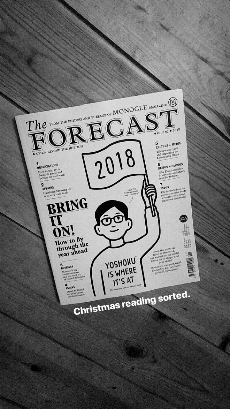 Another month, another copy of Monocle - However, this month was a double helping as their annual Forecast was released.