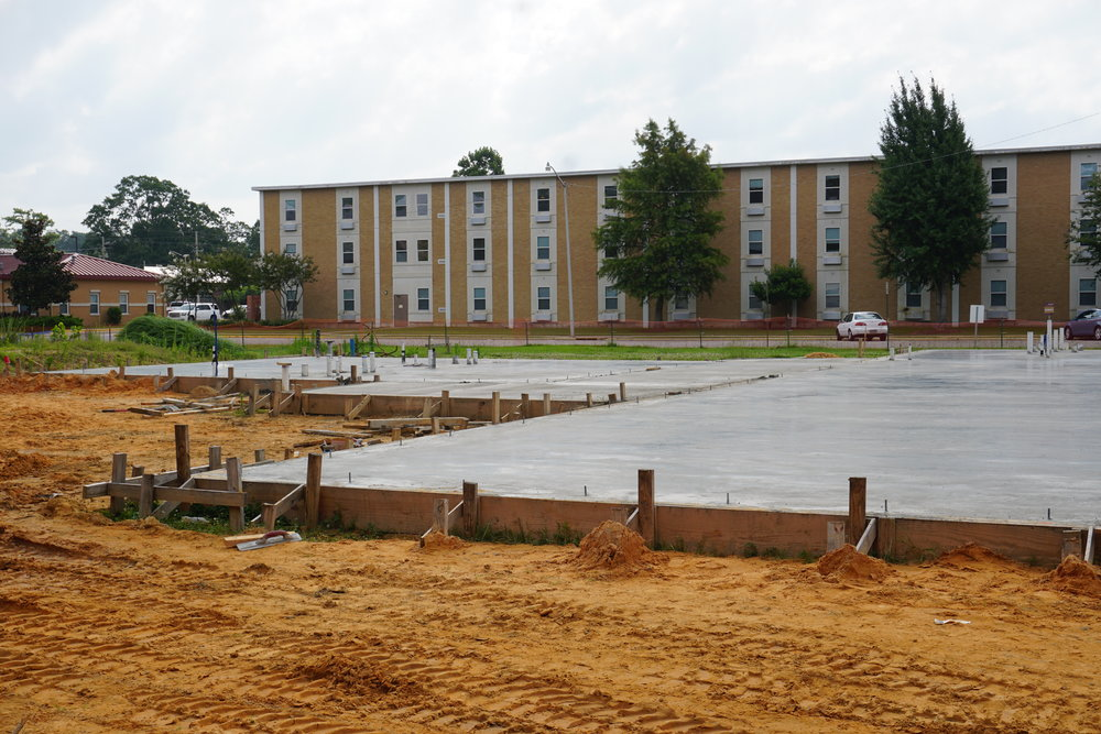 BCM worship area and student apartments June 2017.