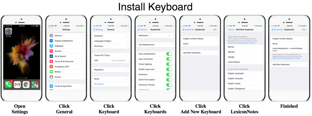 Install Keyboard