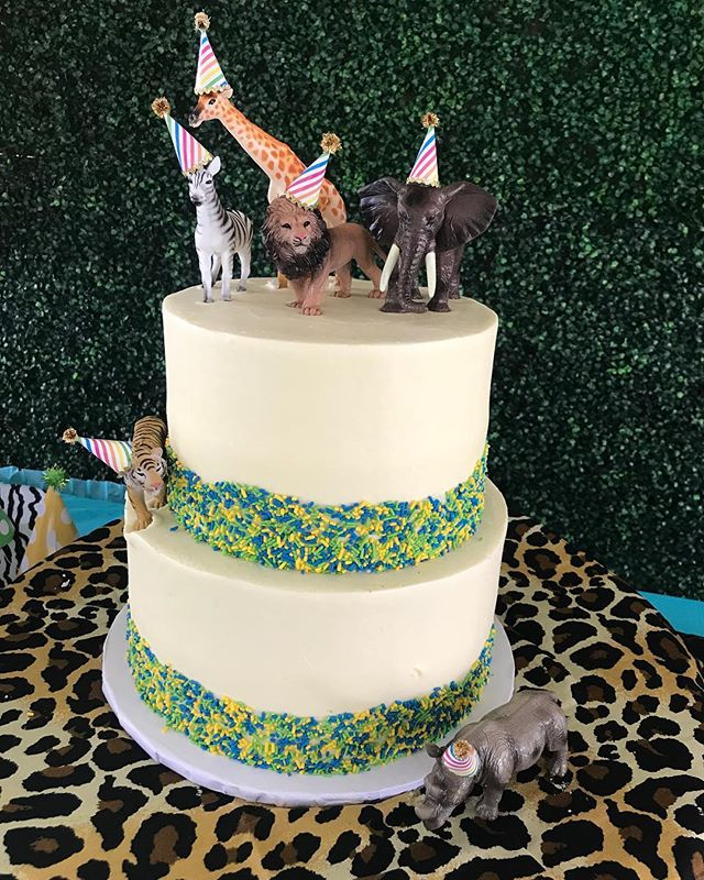 Wild Wednesday Alert 🚨 All the party animals enjoyed this amazing cake a few weeks ago. Thanks @jacque_v_garcia for picking us to be apart of the celebration. #wildone #partyanimals