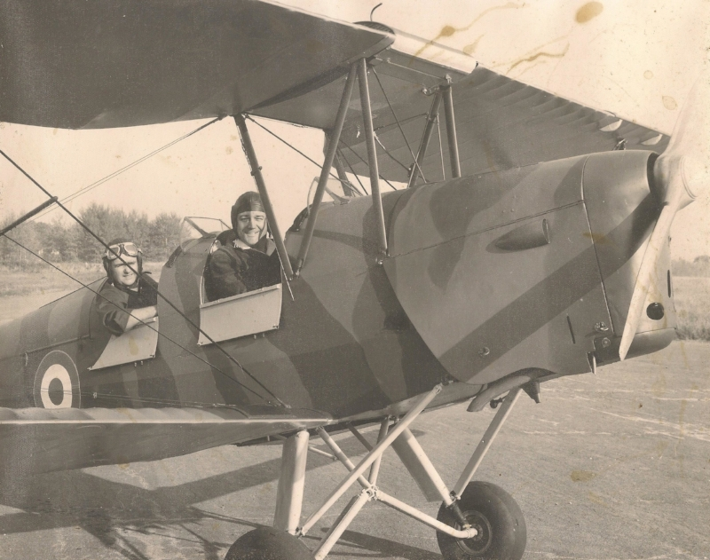 Dad's Tiger Moth. Pittsfield, Maine 1971.