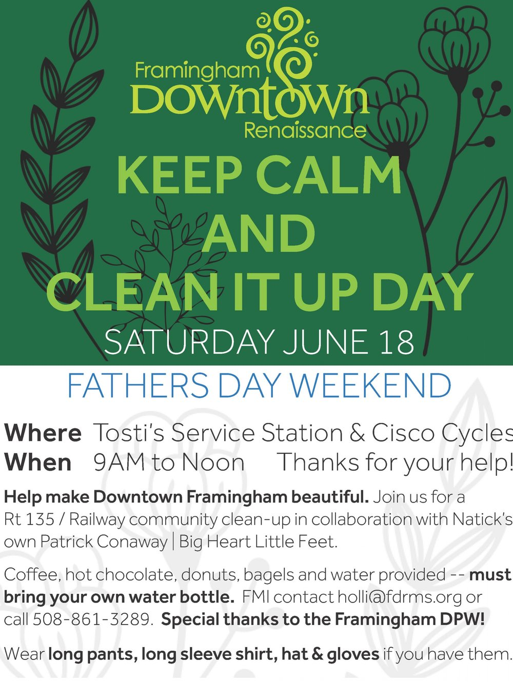Route 135 Father's Day Community Cleanup