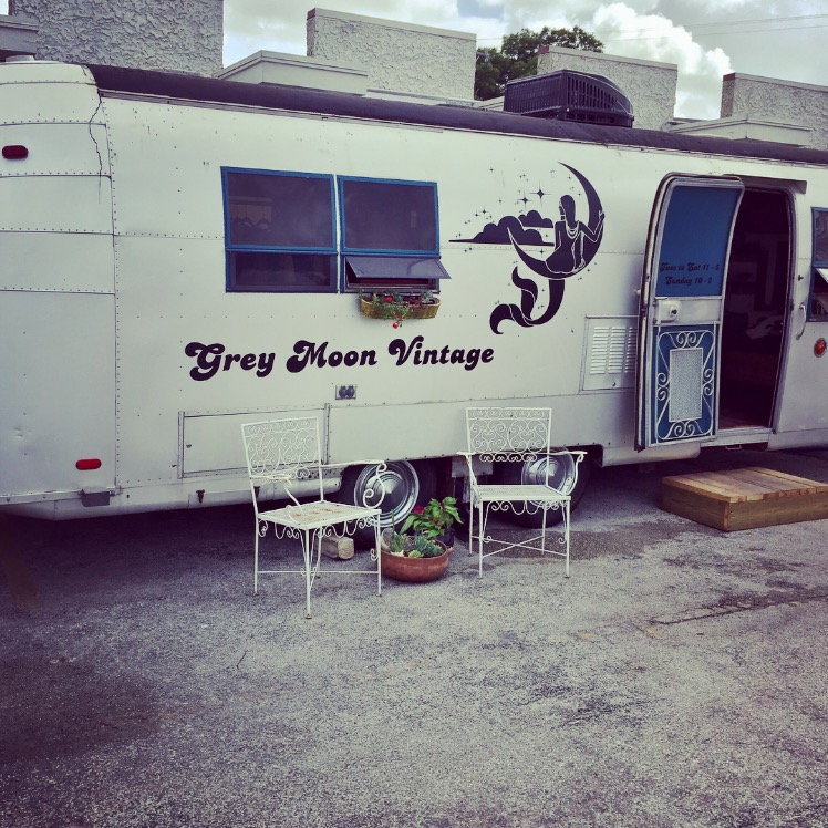 our vintage trailer at broadway news  2202 Broadway, satx, 78215