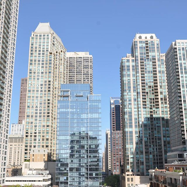 56 W Huron views from the 9th floor. #jsir #jamesonsothebys #56WHuron #chicago #rivernorth #realestate #highrise #views