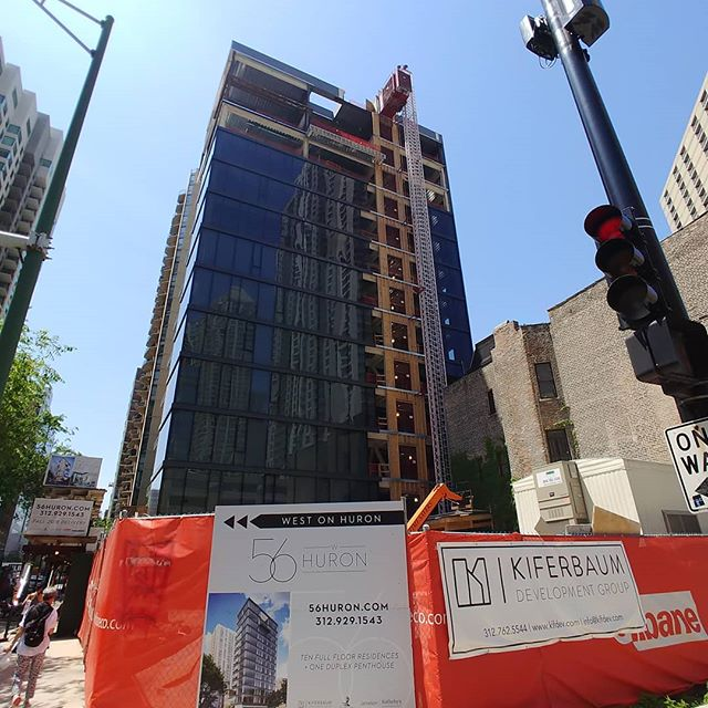 One more week for the completion of the glass install. #56WHuron #realtor #realestate #realestatedevelopment #chicago #rivernorth