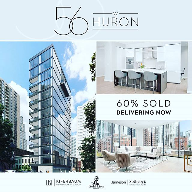 1st closing less than a week away!  Contact me to schedule a tour. #56huron #jamesonsothebys #jsir #development #newconstruction #kiferbaum #rivernorth #ernestomeda #gaggenau
