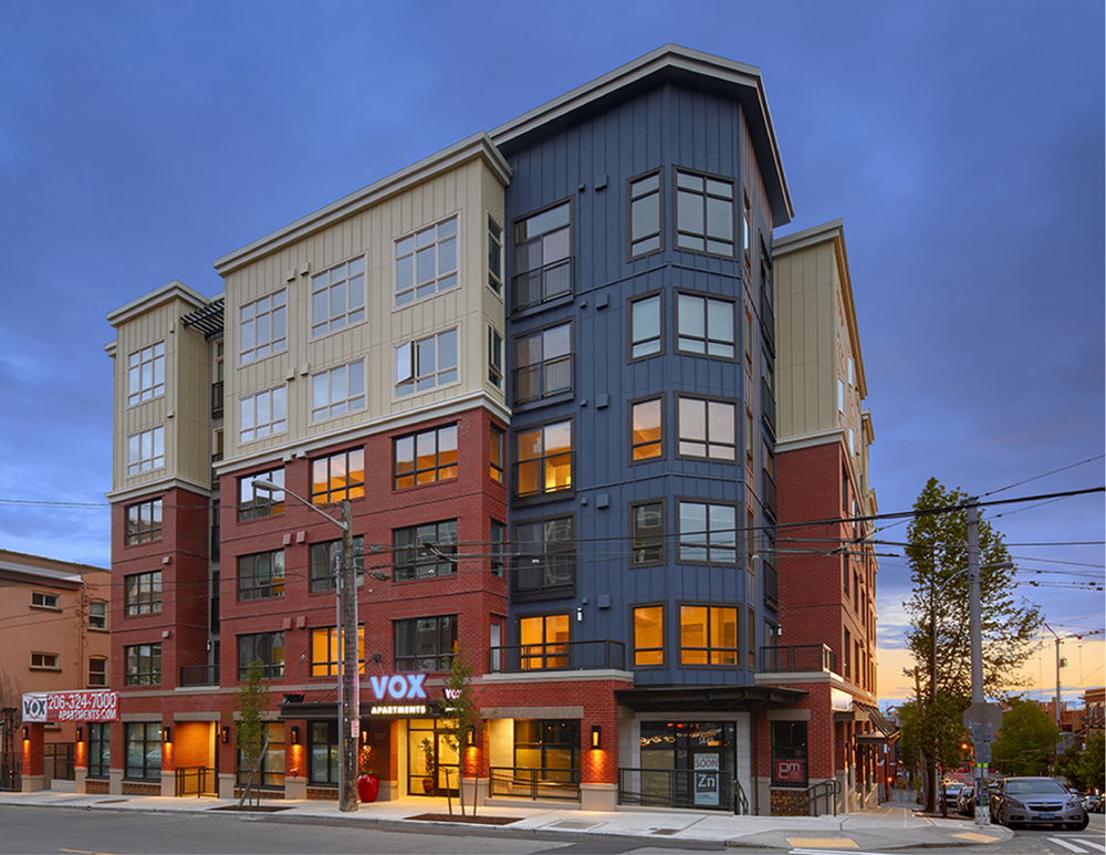 Vox Apartments  58 Units — Capitol Hill  Completed 2013