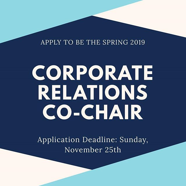 Want to be more involved in WBFM next semester? Want to build your resume and expand your personal network? Apply to be a part of the WBFM Exec Board for Spring 2019.  Deadline: Sunday, November 25th Application: Link in bio