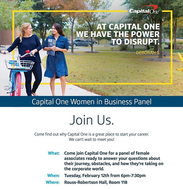Don't miss Capital One tonight at 6!! #CorporateEvent