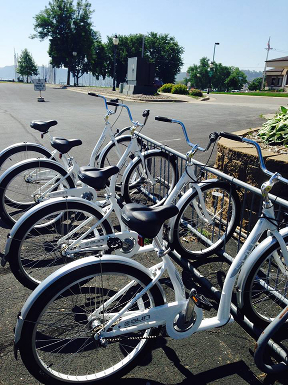 Bike lending program at Lake City Marina.