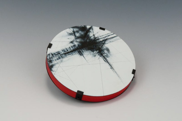above brooch: Break, wood, paint, steel