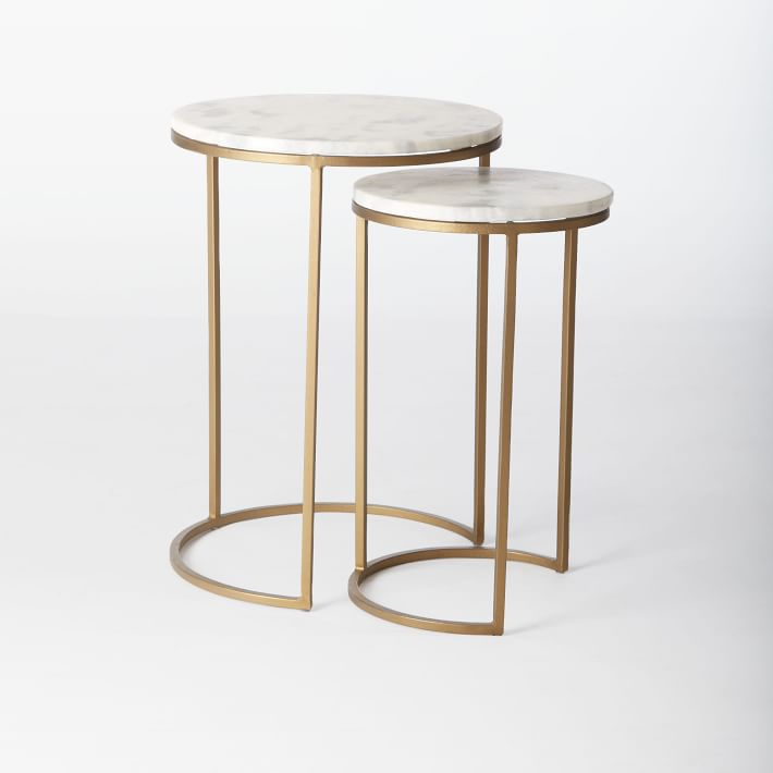 Round Nesting Side Table Marble Antique Brass.jpg