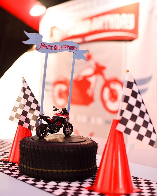 When a 2 year old asks for a motorcycle themed party...he gets it! 📷: @rayneduronsletphotography #Noahturns2 #motorcycle #kidsbirthday