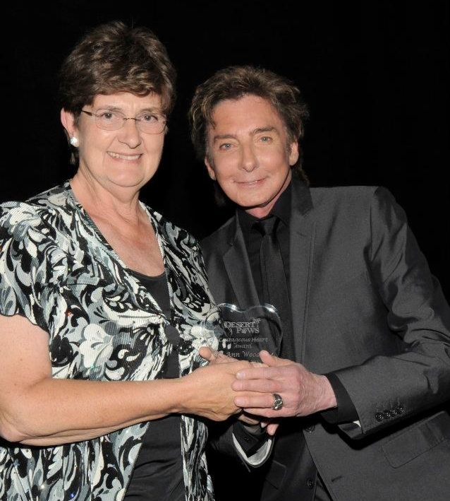 Ann and Barry Manilow...and yes, she is a Fanilow.