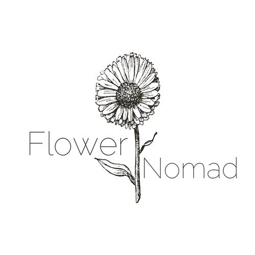 Flower Nomad Logo - Black and White (7).png