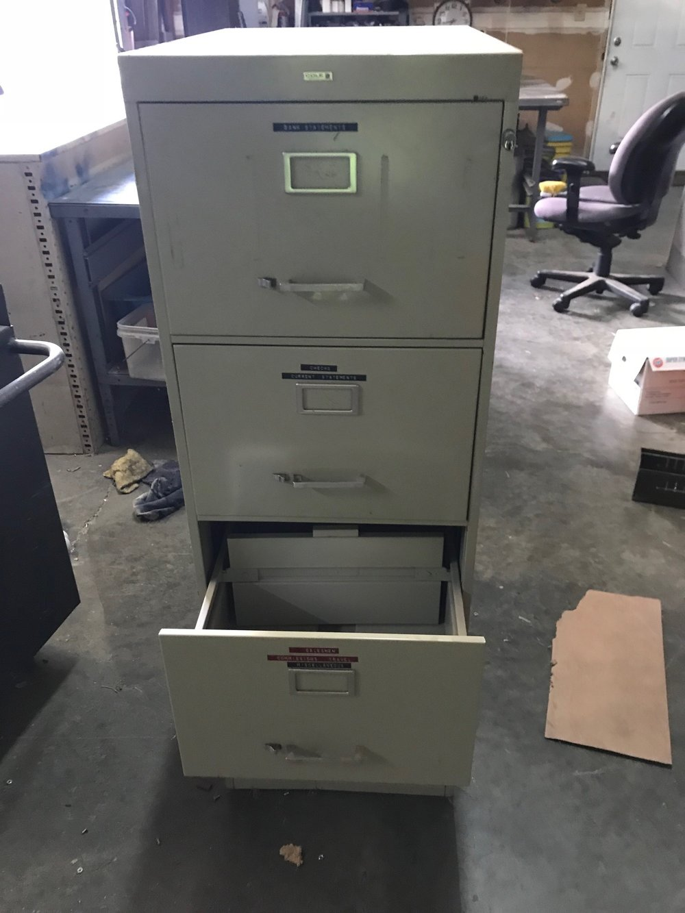 Filing Cabinet Used  $65.00