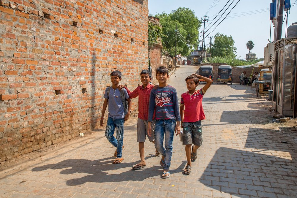 Young Boys Strolling the Streets of India (March 2018)