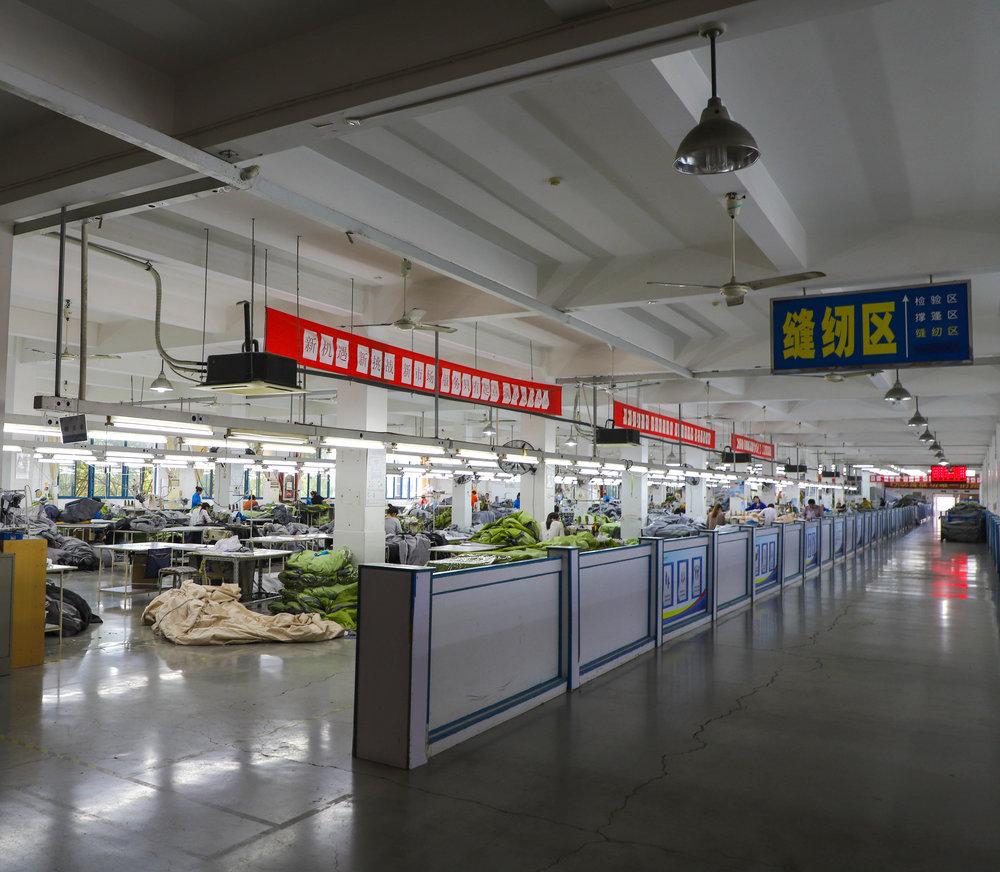 Tent Factory in Ningbo, April 2018