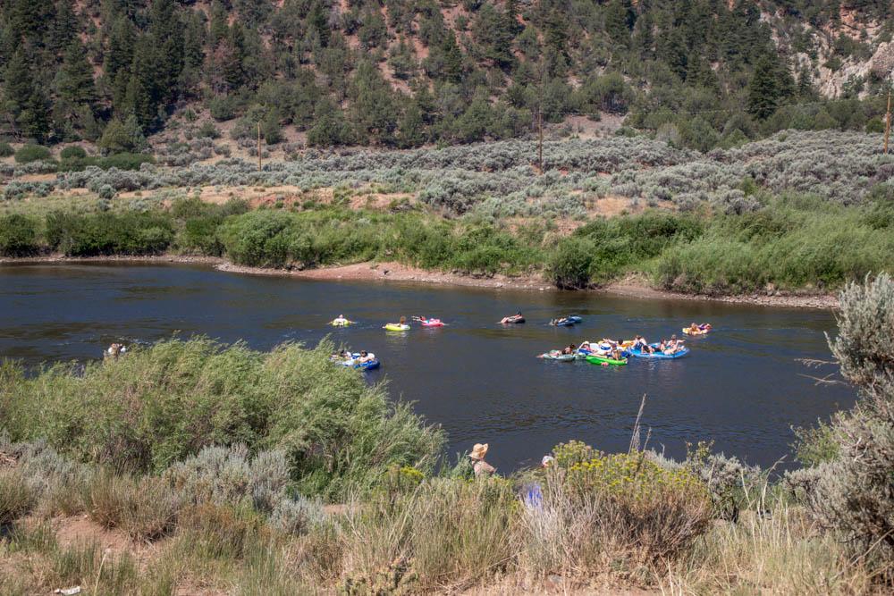 Beanstalk Patrons Floating the Colorado River, Beanstalk Music Festival 2018