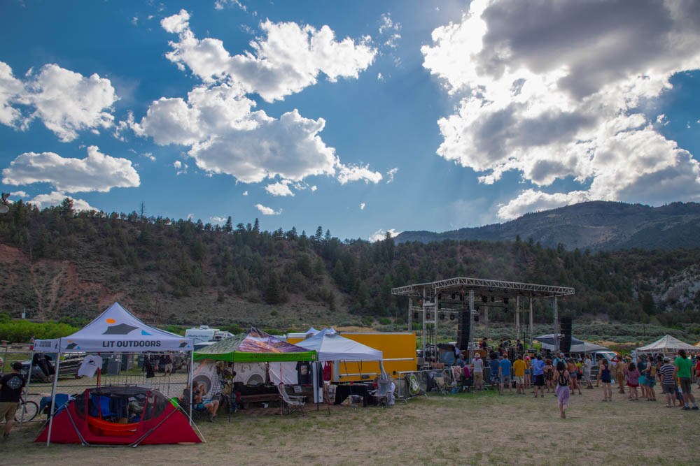 LIT Outdoors and Grassroots California Booths, Beanstalk Music Festival 2018