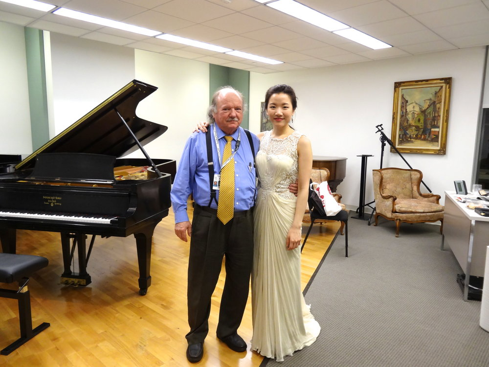 with my teacher, John Perry