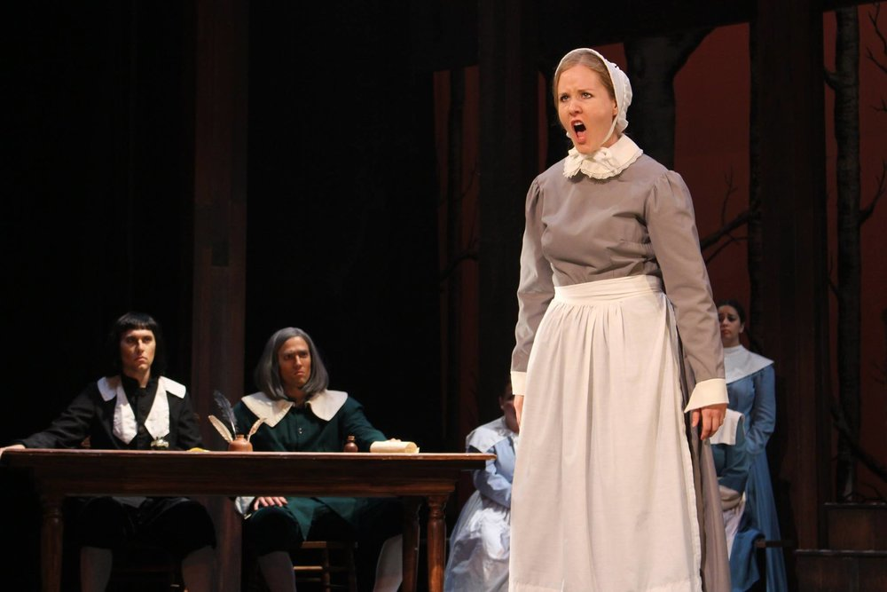 Abigail Williams in  The Crucible   University of Tennessee Opera Theatre  Photo: Ryan Colbert