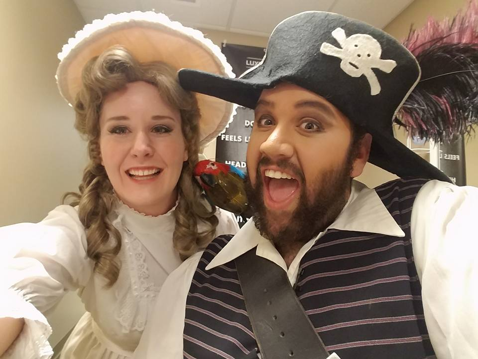 Pirates of Penzance  backstage photo - Knoxville Opera