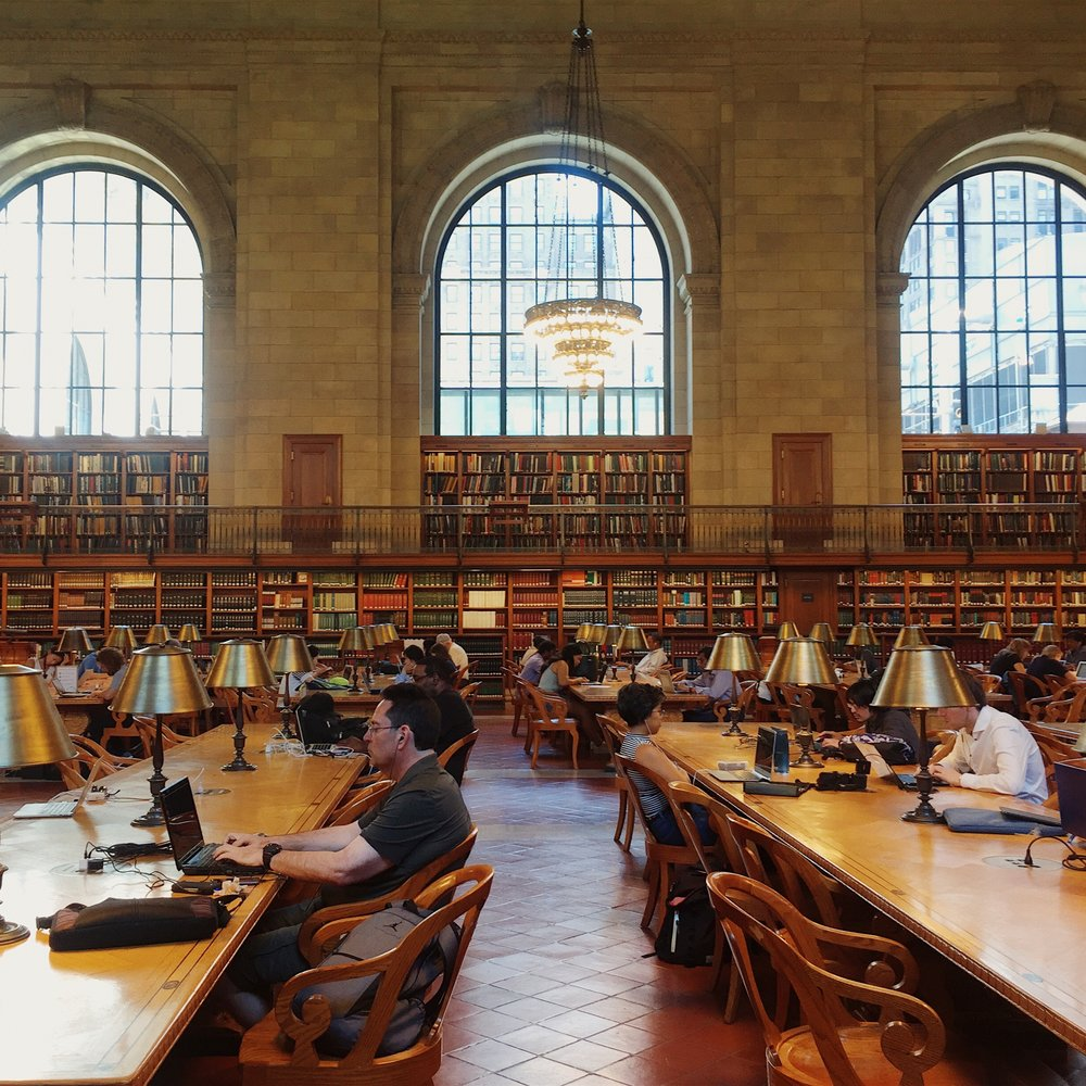 NY Public Library  - I took this photo while I was in New York this summer. Doesn't this image just make you want to go to the library and conduct revolutionary research!
