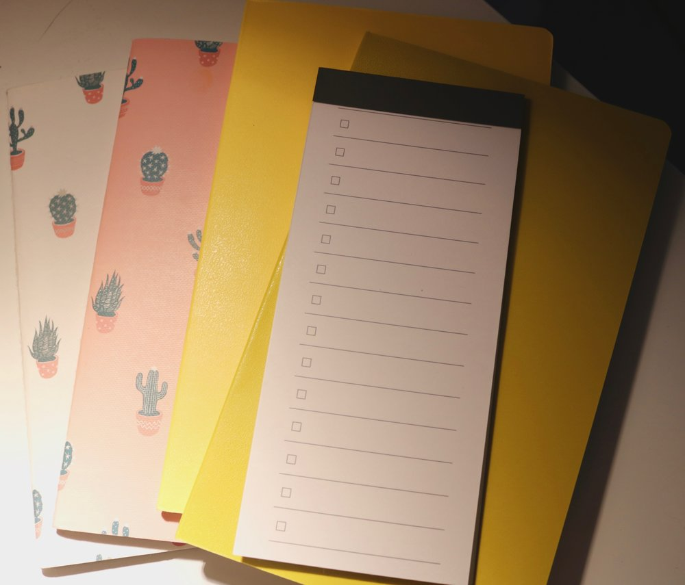 the memo pad I use for my daily to-do list's and it's from Muji!