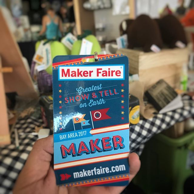 I'm here at @makerfaire @sfbazaar I'm hanging out with @janiexy in her booth all weekend. If you're in the neighborhood, come say hi!
