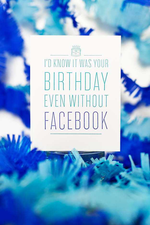 I'd Know It Was Your BIrthday Even Without Facebook letterpress card by SSP