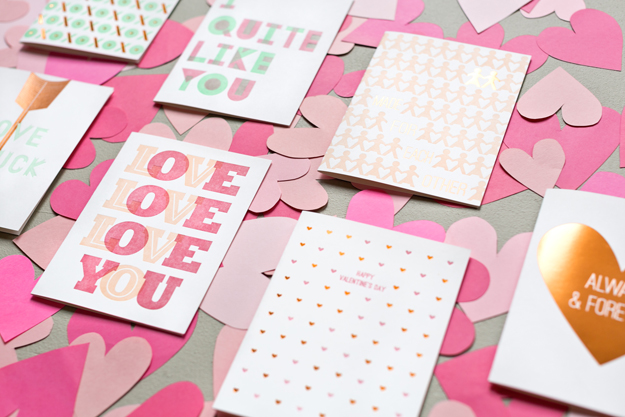 Valentine letterpress cards by Sycamore Street Press